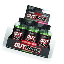 Nutrex Outrage Shot Green Apple, Green Apple, 12 Count