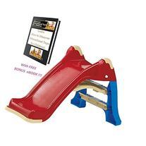 Folding Slide Kids Playground Outdoor Indoor Toys w/ FREE,