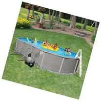 Oval 48 Deep 6 Top Rail Belize Metal Wall Swimming Pool