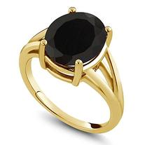 4.10 Ct Oval Black Onyx 14k Yellow Gold Ring