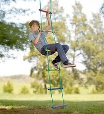 Over-the-Rainbow Climbing Rope Ladder Playground Swing Sets