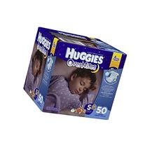HUGGIES OverNites Diapers, Size 5, 50 ct., BIG PACK