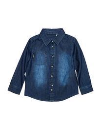 Kardashian Kids Oversized Chambray Shirt-BLUE-2T
