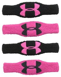 Under Armour 1/2-Inch Oversized Wristband, Black/White/Black