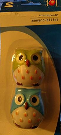 Owls Pencil Sharpeners 2-Pack