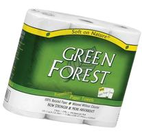 Green Forest 100% Recycled Paper Towels, 104 count, 3 rolls