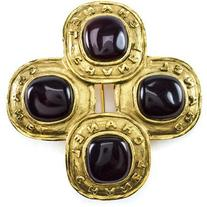 Pre-owned Chanel Season 26 Poured Glass Brooch