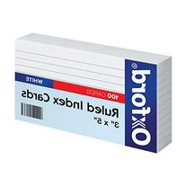 """Oxford Ruled Index Cards, 3"""" x 5"""", White, 100-Pack"""