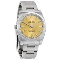 Rolex Oyster Perpetual 34 Champagne Dial Stainless Steel