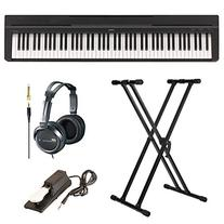 Yamaha P35B 88-Key Digital Piano in Black Bundle with Knox