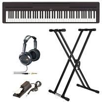 Yamaha P45B Digital Piano with Knox Double X Keyboard Stand