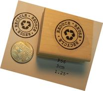 P47 Recycle, reuse, reduce rubber stamp