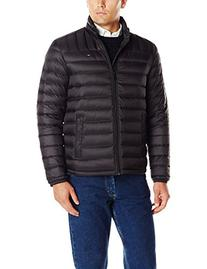Tommy Hilfiger Men's Packable Down Jacket, Black, Small