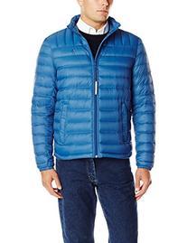 Tommy Hilfiger Men's Packable Down Jacket, Royal Blue, Large