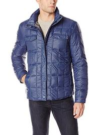 Kenneth Cole New York Men's Packable Quilted Shirt Jacket,