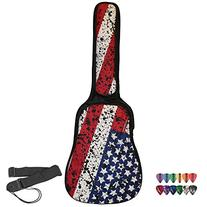 ChromaCast Padded Acoustic Guitar Gig Bag with American Flag