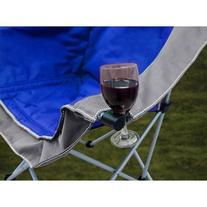 Padded Club Chair, Blue/gray Padded Camping Chair Folds Into