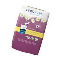 Natracare Natural Pads, Extra Long, Night Time,  10 Count