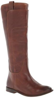 FRYE Women's Paige Tall Riding Boot, Cognac Burnished Full