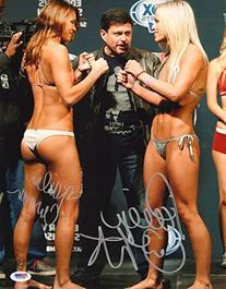 Paige VanZant & Kailin Curran Signed UFC 16x20 Photo COA