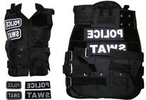 Paintball Airsoft Black SWAT, POLICE Tactical Vest Field