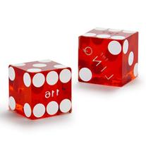 Pair  of Official 19mm Casino Dice Used at The Linq Casino