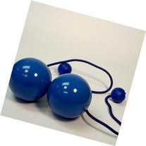 Play Pair of Contact GIGA Poi with 100mm Stage Ball -Blue