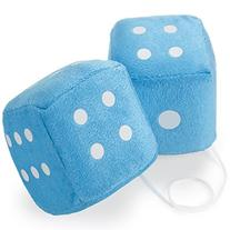 """Pair of 3"""" Hanging Fuzzy Dice by Pudgy Pedro's Party"""