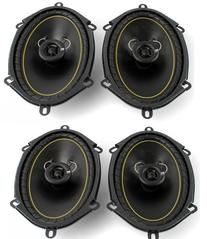 """2 Pairs KICKER DS68 6x8"""" 2-Way Coaxial Car Audio Speakers"""