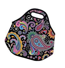 Paisley pattern Soft Friendly Insulated Lunch box Food Bag