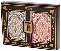 KEM Paisley Red and Blue, Bridge Size-Jumbo Index Playing