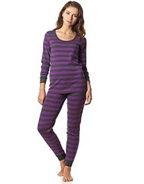 """Leveret Women's """"Fitted Striped"""" Pajama 100% Cotton"""