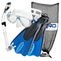 Cressi Palau Mask Fin Snorkel Set with Snorkeling Gear Bag,