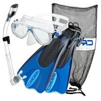 Cressi Palau Mask Fin Snorkel Set with Snorkeling Gear Bag,