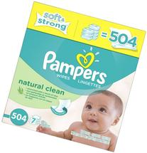 Pampers Natural Clean Baby Wipes - 504 ct - Unscented