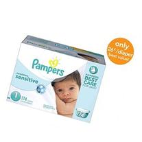Pampers Sensitive Size 1 Diapers Economy Plus Pack - 174