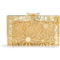 Charlotte Olympia Pandora In Bloom crystal-embellished gold-