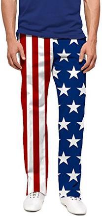 Loudmouth Golf Mens Pant: Stars & Stripes - Size 34X34