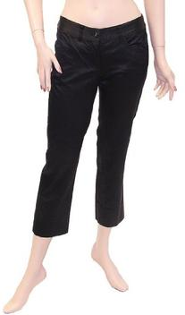 Armani Jeans Womens Pants Trousers Black Cotton, 26, Black