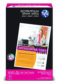 HP Paper, Multipurpose Ultra White, 20lb, 8.5x14, Legal, 96