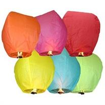 20 Colored Paper Chinese Sky Floating Lanterns Wishing