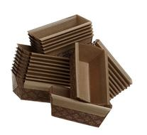 Kitchen Supply 4 x 2 x 2 Inch Paper Loaf Pan, Set of 25