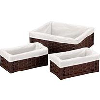 Household Essentials Paper Rope Utility Baskets, Set of 3