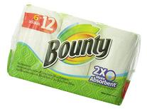 Bounty Paper Towels 6 Double Rolls