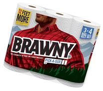 Brawny Paper Towels, Pick-A-Size, Big Roll, White - 3 Pack