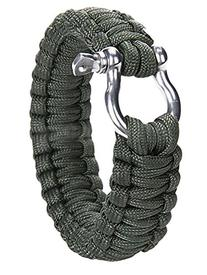 niceEshop Outdoor Paracord Survival Bracelet with Zinc Alloy