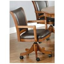 Park View Caster Game Chair in Medium Brown Oak