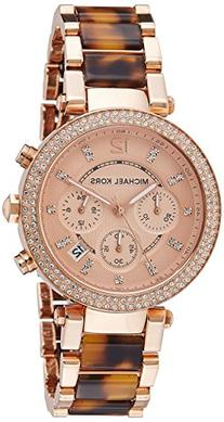 Michael Kors Women's Parker Rose Gold & Tortoise Watch