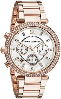 Michael Kors Women's Parker Rose Gold-Tone Bracelet Watch