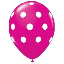 Party decoration Pink Polka dot balloons  latex